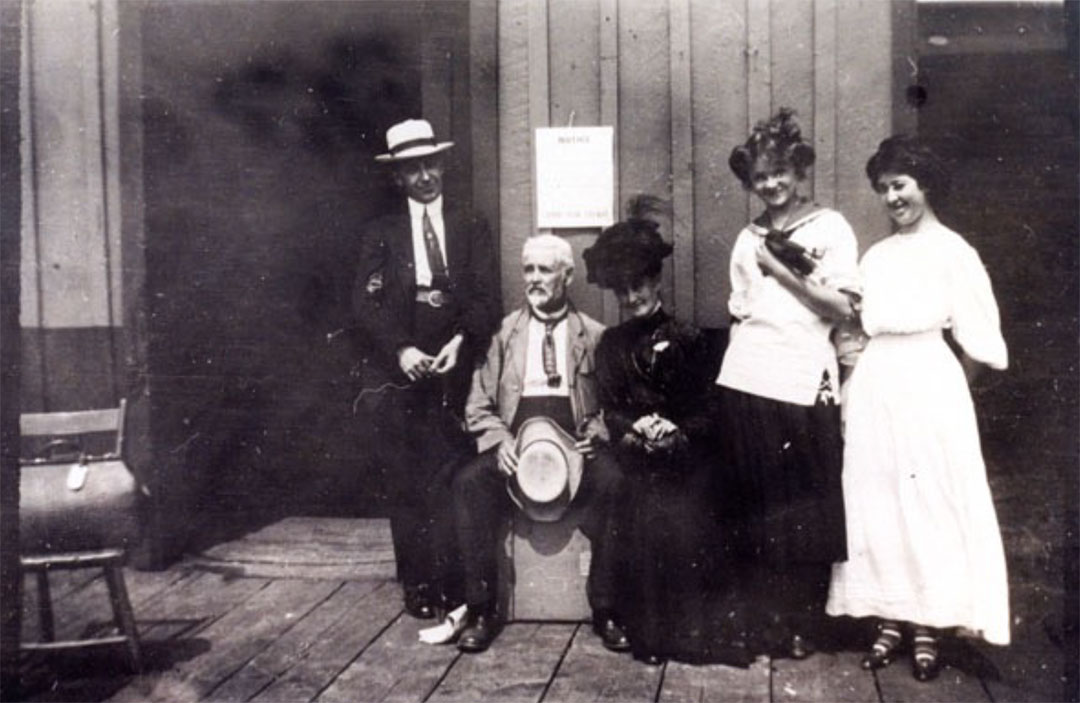 The two seated people are George Isaiah Merriman and his sister Ella Jane Merriman Black